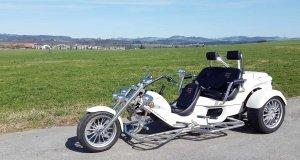 Trike 3-Sitzer in weiss